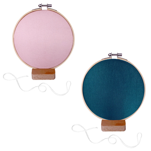 Gem Auras Earring Display Holder 16cm  with Wooden Stand - Available in Pink=01 / Blue=02