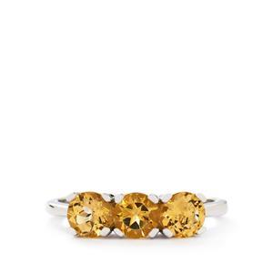 1.54ct Ouro Preto Imperial Topaz 10K White Gold Ring