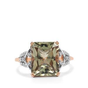 Csarite® & Diamond 18K Rose Gold Lorique Ring MTGW 6.83cts