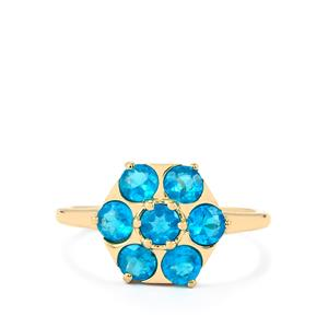 Neon Apatite Ring in 10k Gold 1.18cts