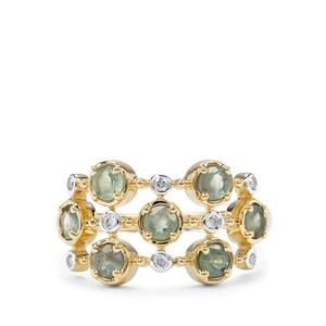 Alexandrite & Diamond 9K Gold Ring ATGW 0.94cts