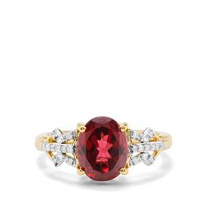 Morogoro Garnet & Diamond 18K Gold Tomas Rae Ring MTGW 3.41cts