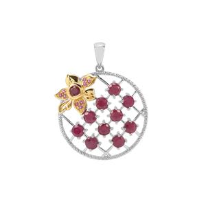 Ruby Pendant with Rajasthan Garnet in Sterling Silver 4.20cts