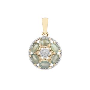 Alexandrite Pendant with Diamond in 9K Gold 1.48cts