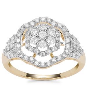 Argyle Diamond Ring in 9K Gold 0.77ct