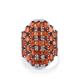 8.57ct Rhodolite Garnet Sterling Silver Ring