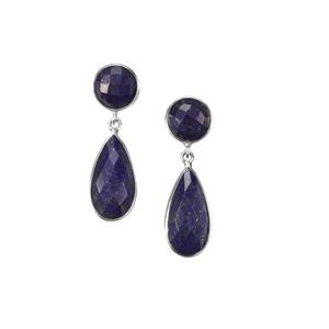 Sar-i-Sang Lapis Lazuli Earrings in Sterling Silver 23cts