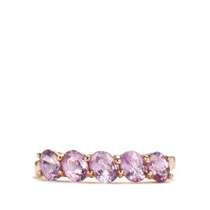 Natural Purple Sapphire Ring in 9K Gold 1.55cts