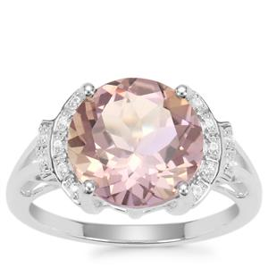Anahi Ametrine Ring with White Zircon in Sterling Silver 4.20cts