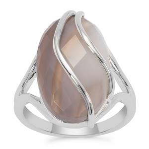 Grey Agate Ring in Sterling Silver 10.05cts