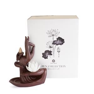 Zen Collection Backflow Incense Burner Set with Ten Sandalwood Incense Cones