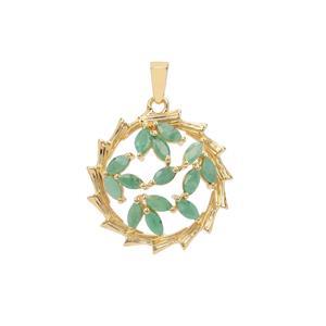1.20ct Carnaiba Brazilian Emerald Midas Pendant