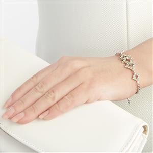 2.86ct Songea Green Sapphire Sterling Silver Bracelet