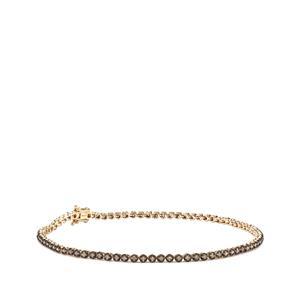Champagne Diamond Bracelet in 9K Gold 1.07ct