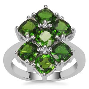 Chrome Diopside Ring in Sterling Silver 4.28cts