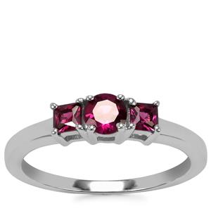 Tocantin Garnet Ring in Sterling Silver 0.82ct
