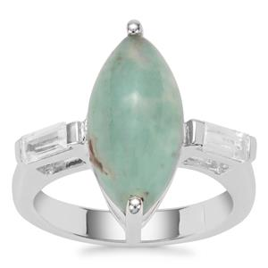Aquaprase™ Ring with White Zircon in Sterling Silver 4.54cts