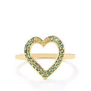 Orissa Alexandrite Ring in 10k Gold 0.25cts