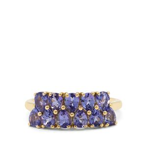 AA Tanzanite Ring in 9K Gold 1.60cts