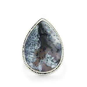 19.77ct Siberian Dendrite Quartz Sterling Silver Aryonna Ring