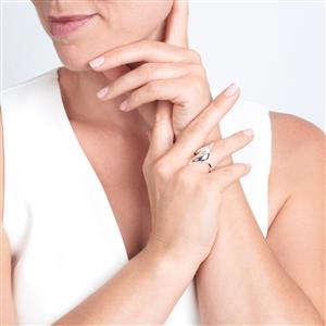 Kaori Cultured Pearl Rosie Loves Ring in Sterling Silver (3mm)