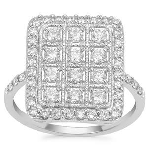 Argyle Diamond Ring in 9K White Gold 1cts