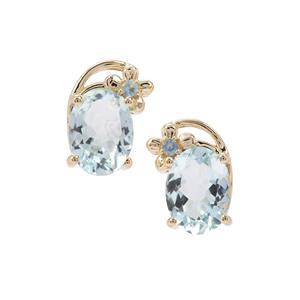 Aquamarine & Marambaia London Blue Topaz 9K Gold Earrings ATGW 2.27cts