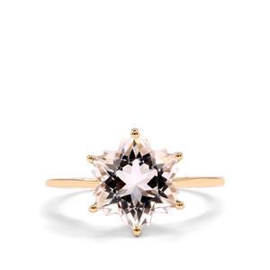 Itinga Petalite Wobito Snowflake Ring in 10K Gold 3.64cts