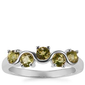 1ct Changbai Peridot Sterling Silver Ring