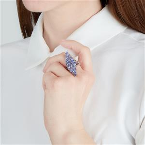 Tanzanite Ring in Sterling Silver 5.37cts