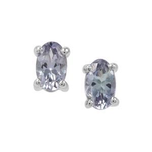 0.49ct Bi Colour Tanzanite Sterling Silver Earrings
