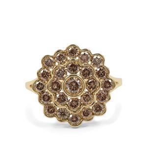 1.98ct Champagne Diamond 9K Gold Ring