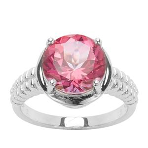 4.30ct Pure Pink Topaz Sterling Silver Ring