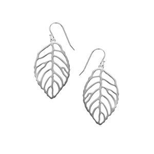 Sterling Silver Leaf Earrings 5.56g