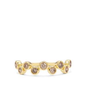 Champagne Diamond Ring in 9K Gold 0.50ct