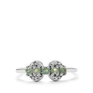 Alexandrite & Diamond 10K White Gold Ring ATGW 0.39cts