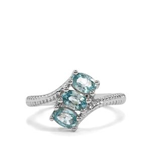 1.91ct Ratanakiri Blue Zircon Sterling Silver Ring
