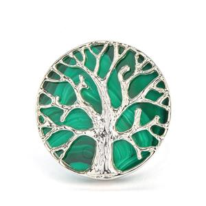 9cts Malachite Sterling Silver Ring