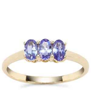 'The Generation Trilogy' AA Tanzanite Ring in 9K Gold 0.67ct