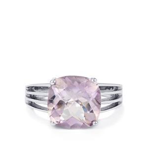 4.71ct Rose De France Amethyst Sterling Silver Ring