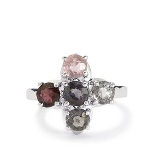 3.11ct Burmese Multi-Colour Spinel Sterling Silver Ring