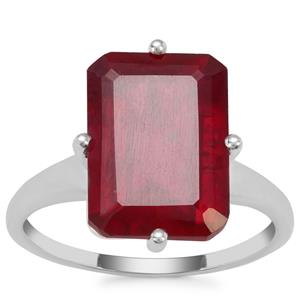 Malagasy Ruby Ring in Sterling Silver 9.25cts