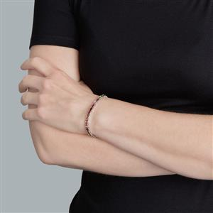 Rainbow Tourmaline Bracelet in Sterling Silver 8.06cts
