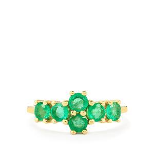 1.26ct Zambian Emerald 10K Gold Ring