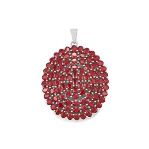 Malagasy Ruby Pendant in Sterling Silver 22.44cts (F)