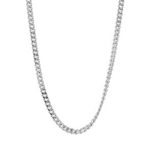 "24"" Sterling Silver Classico Diamond Cut Curb Chain 3.80g"