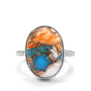 Oyster Turquoise Ring in Sterling Silver 12.33cts
