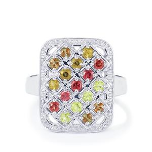 0.89ct Exotic Gems Sterling Silver Ring
