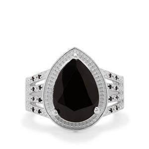 6.60ct Black Spinel Sterling Silver Ring
