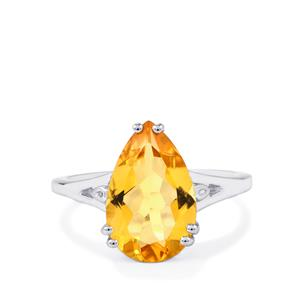Diamantina Citrine Ring in Sterling Silver 5.30cts